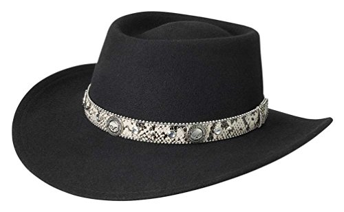 Harley-Davidson Women's Rhinestone Snake Skin Band Crushable Wool Hat HD-201 (S)