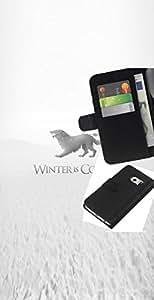 // PHONE CASE GIFT // Moda Estuche Funda de Cuero Billetera Tarjeta de crédito dinero bolsa Cubierta de proteccion Caso Samsung Galaxy S6 EDGE / Winter Is Coming Stark /