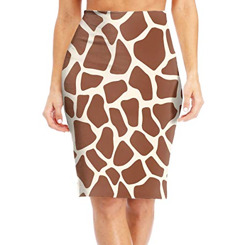 Wqi Home Lovely Giraffe Print Womens Girls High Waist Bodycon Pencil Skirts Slim Knee Length Party Skirt ()