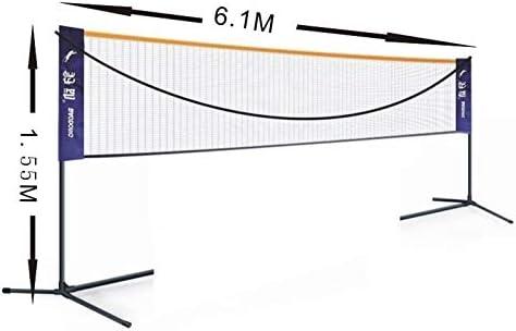 مجموعة شبكية لريشة الريشة 6 1 متر قابلة للتنقل شبكة كرة الطائرة المطاطية عرض الارتفاع كرة طائرة للأطفال للحديقة والحديقة والفناء الخلفي للشاطئ Amazon Ae