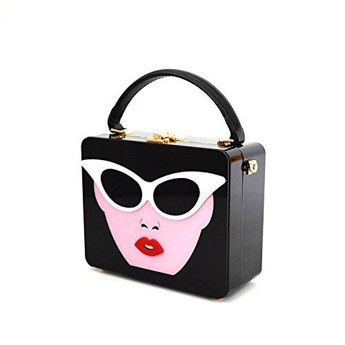 Messenger Mode à De La De Vintage Carrés Sac Sacs Décontracté Black Mode Bag Petits à La Provisions Sacs Main H7nxwBIqaw