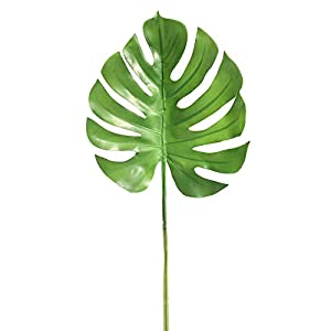 ZTY66 Artificial Palm Tree Soft Glue Leaves Green Plants Greenery for Flowers Arrangement Wedding Decoration Faux Palm Leaves 43