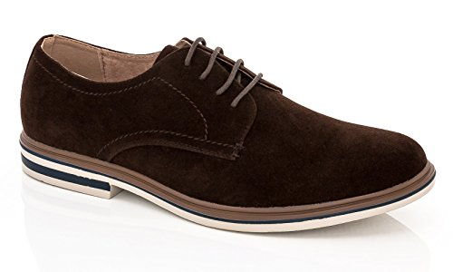 Adolfo Mens Oxford-2 Stringate Scarpe Eleganti Oxford In Suede Marrone Scamosciato