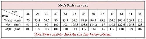 YiLianDa Hombre Chino Pantalones Casual Algodón Oficina Slim Fit Pantalon Beige