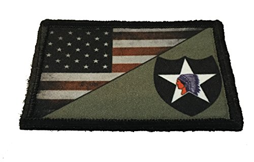 - Full Color 2nd Infantry Division USA Flag Morale Patch Tactical Military. 2x3