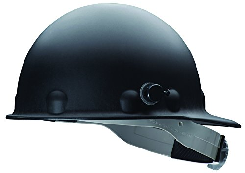 (Fibre-Metal by Honeywell P2AQRW11A000 Super Eight Fiber Glass Cap Style Ratchet Hard Hat with Quick-Lok, Black)