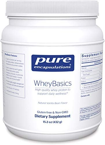 Pure Encapsulations – WheyBasics – Whey Protein Beverage Powder to Support Nutritional Health and Immune Function – 15.2 Ounces – Natural Vanilla Bean Flavor