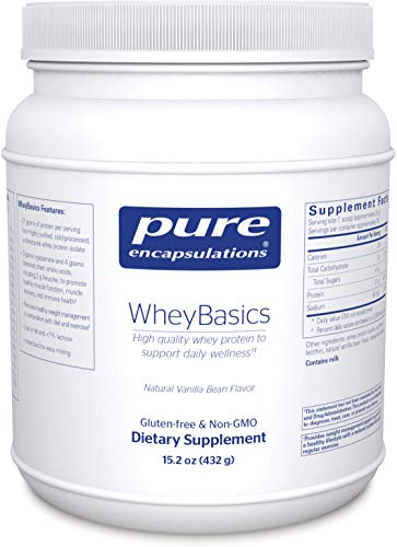 Pure Encapsulations - WheyBasics - Whey Protein Beverage Powder to Support Nutritional Health and Immune Function* - Natural Vanilla Bean Flavor - 432 Grams