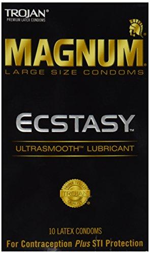 Trojan Magnum Ecstasy Lubricated Condoms, 10 Count (Pack of 2)