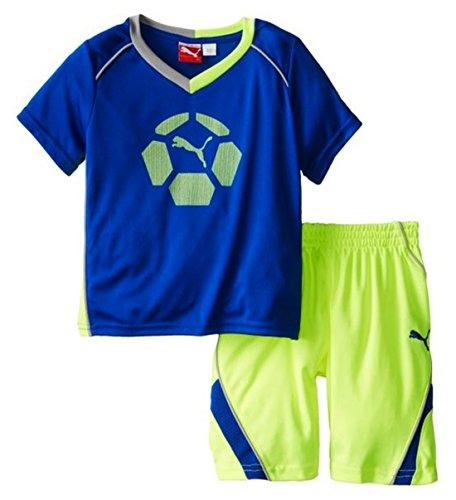 Infant Football Jersey Set - Puma Infant Soccer Team Perf Set - Jersey Shirt & Shorts (12 Months, Competition Blue)