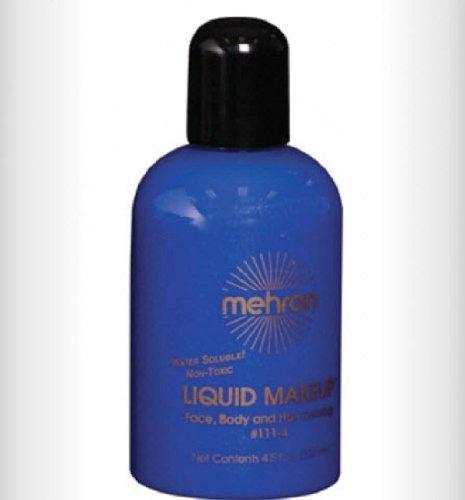 Last Minute Halloween Face Makeup (Mehron Makeup Liquid Face & Body Paint (4.5 oz))