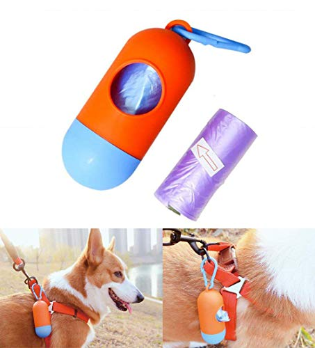 3set Disposable Earth-Friendly Leak-Proof Pet Dog Waste Popp Bags with Dispenser and Clip for Poop Removal Pickup Disposal Heavy Duty (Color Random)