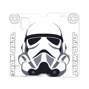 Star Wars Storm Trooper White Hard Hard Case Samsung Galaxy note 4 Case Cover (Laser Technology)