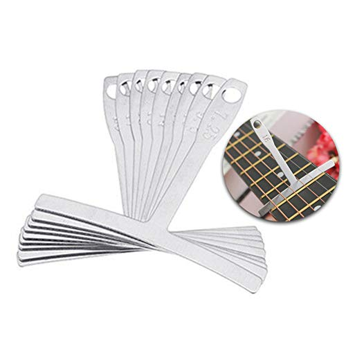 difcuyg5Ozw 9Pcs/Set Durable Radius Gauge,Acoustic Electric Guitar Bass String Setup Luthier Tools Easy Measuring- Silver