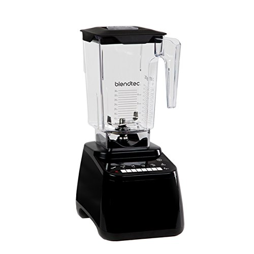 Blendtec Designer Series Blender-WildSide+ Jar (90 oz) -Professional-Grade Power-Self-Cleaning-6 Pre-Programmed Cycles-8-Speeds-Sleek and Slim, Black