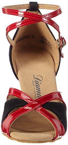 Diamant UK Ballroom 1 Black Red Mehrfarbig 5 Shoes Women's Dance ArwqzAvU