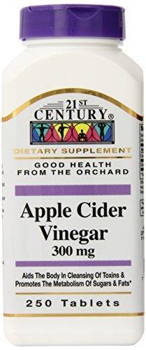 21st Century Apple Cider Vinegar 300mg Tablets, 250 Count by 21st Century (21st Century Apple Cider Vinegar 300 Mg)