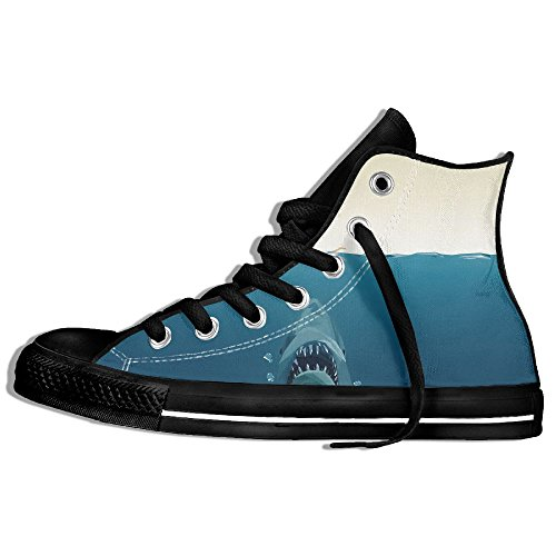 Classic High Top Sneakers Canvas Shoes Anti-Skid åˆ é¤ Casual Walking For Men Women Black AmrhAp8h