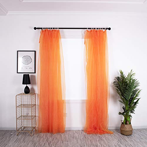 Geometric Figure Printing Transparent Sheer Curtains Triangle Pattern Living Room Sheer Tulle Curtains Rod Pocket Process for Children Kids Room 1 Panel ()