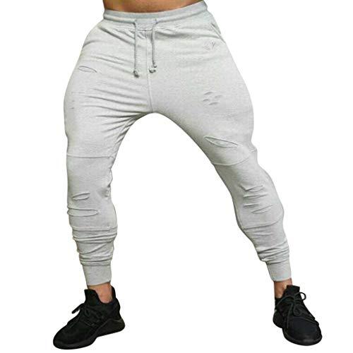 Trouser Pant Windowpane - Caopixx Men's Patchwork Printed Jogger Pants Soft Stretch Slim Fit Trousers Athletics Sweatpants Gray