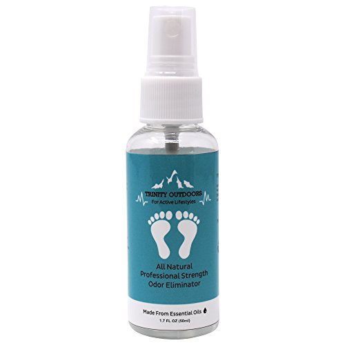 Trinity Outdoors   Shoe Deodorant Spray   With Essential Oils For Natural   Effective Odor Elimination