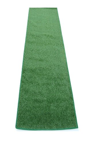 3'x20' GREEN - ECONOMY TURF / ARTIFICIAL GRASS RUNNERS | 2', 3', 4' & 6' Widths x Lengths up to 100' |Light Weight Outdoor - EASY Maintenance - Just Hose Off & Dry! - 8 Colors to Choose From by Koeckritz Rugs