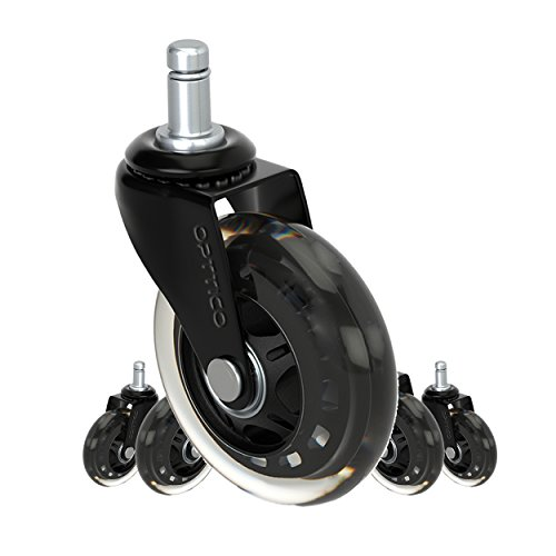 OPTTICO Replacement Casters Set for IKEA Office Chairs, O...
