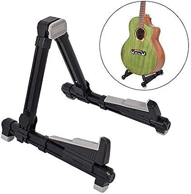 xMxDESiZ Soporte de metal plegable para guitarra acústica ...