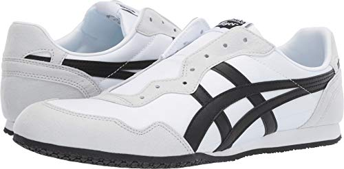 - Onitsuka Tiger by Asics Unisex Serrano Slip-On White/Black 11 Women / 9.5 Men M US