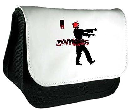 I headsplat amor Zombies doble grifo embrague bolsa o estuche, color negro talla única