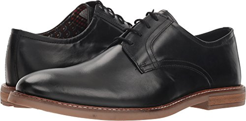 Ben Sherman Men's Birk Plain Toe Oxford, Black, 9.5 M US