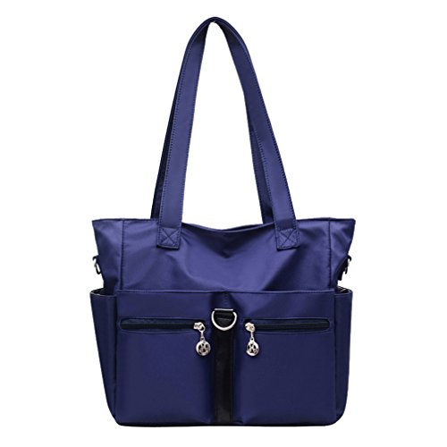 - Fabuxry Women Casual Totes Handbags Shoulder Bags Purses Soft Nylon Bag Navy