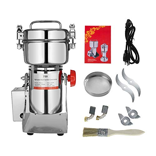 Marada 750g Pulverizer Grinding Machine Stainless Steel 25000 r/min Pulverizer Machine for Kitchen Herb Spice Pepper Coffee Powder Grinder (750g)  by Marada (Image #6)