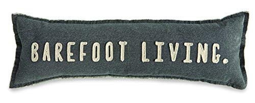 Mud Pie Barefoot Living Washed Canvas Lumbar 35