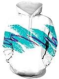 Raisevern Unisex 3D Printed Drawstring Pockets Hoodie Sweatshirts Plus Velvet, Large Paper Cup