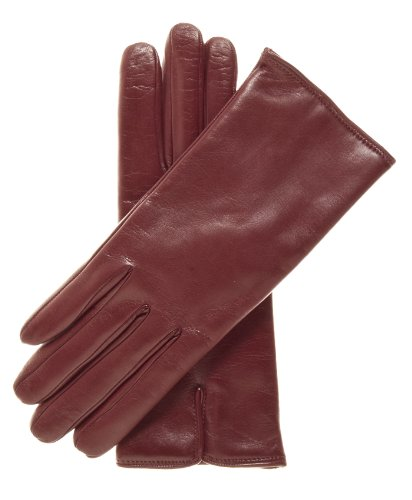 Fratelli Orsini Women's Italian Cashmere Lined Leather Gloves Size 7 1/2 Color Oxblood