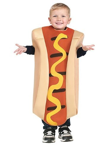Dog Scary School Girl Costumes - Hot Dog Toddler