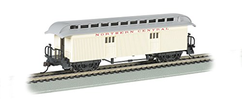 Bachmann Industries Northern Central Rr Ho Scale Old-Time Car with Round-End Clerestory Roof ()