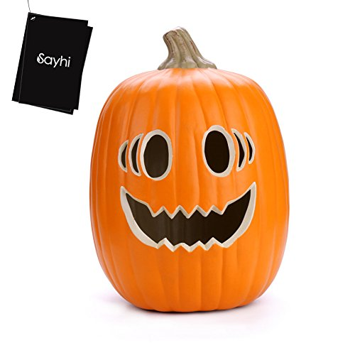 Huangou Halloween Pumpkin Lamp - Ship from US (Free, Yellow)]()