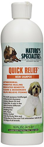 Nature's Specialties Quick Relief Neem Shampoo for Pets, 16-Ounce ()