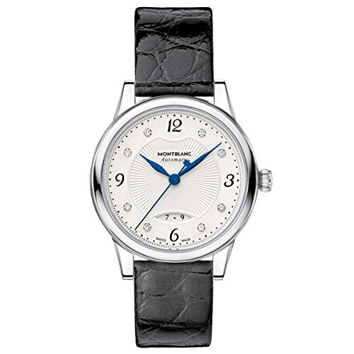 Montblanc-Boheme-Automatic-Silver-Dial-Black-Leather-Ladies-Watch-111055