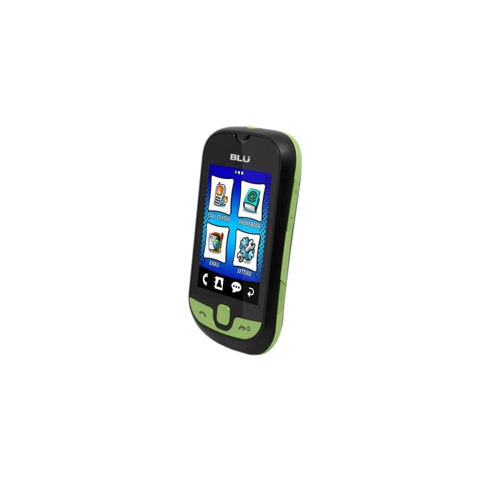 BLU S210 Deejay Touch   Unlocked Phone   US Warranty   Black/Green