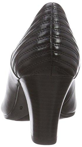 Caprice 22403 - zapatos de tacón cerrados de cuero mujer negro - negro