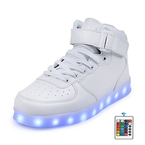3d68dbdf00e8 Qkettle Kids 20 Models LED Shoes Boys Girls Light Up Sneakers With Remote  Control( 37 M EU