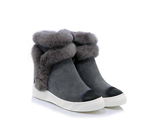 Calda genuino cuoio neve stivali macchia donna colore aumentato scarpa ,  gray , 35