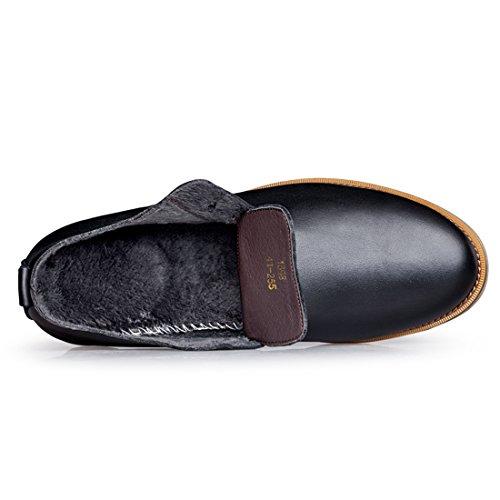 Minitoo LHUS-LH1698, Chaussures de Ville à Lacets Pour Homme - Noir - Fur Lined/Black, 39 EU