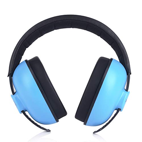 Baby Headphones Safety Ear Muffs Noise Reduction for Newborn Infant Autism Kids Toddlers Sound Cancelling Headphones for Sleeping Studying Airplane Concerts Movie Theater Fireworks, Blue by ILOVEUS (Image #8)