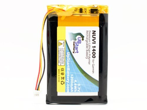 Replacement for Garmin Nuvi 1450 Battery - Compatible with Garmin ED38BD4251U20 GPS Battery (1200mAh 3.7V Lithium Polymer)