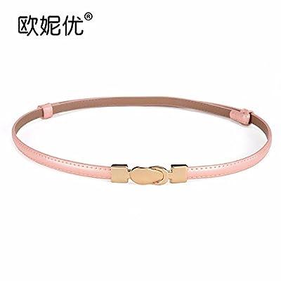 - ceinture de couleur caramel femmes mode robe simple femmes ceinture en cuir ornement