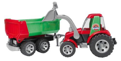 Bruder 20116 - ROADMAX Traktor mit Frontlader und Kippanhänger